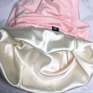 Grace Eleyah Satin Lined Knit Hat Pink